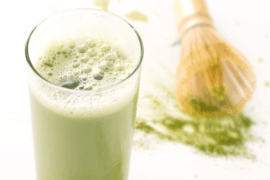Iced Matcha Blended Protein Shake Recipe