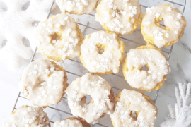 White Chocolate Protein Christmas Donuts Recipe