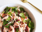 Poached shredded chicken beetroot and pepita salad recipe